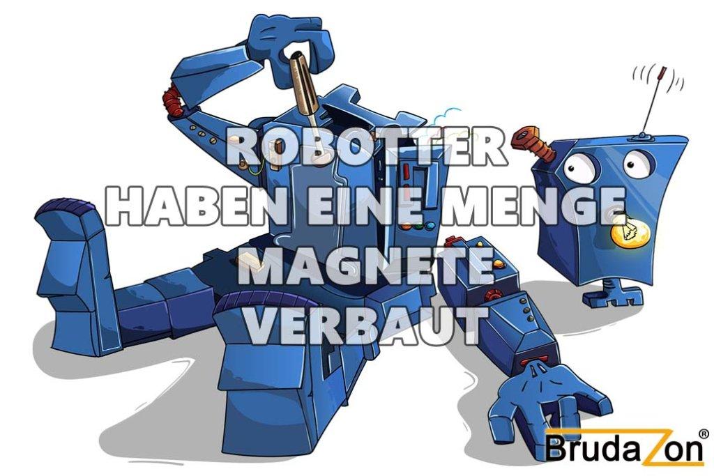 IN Robottern sind viele Neodymmagnete verbaut