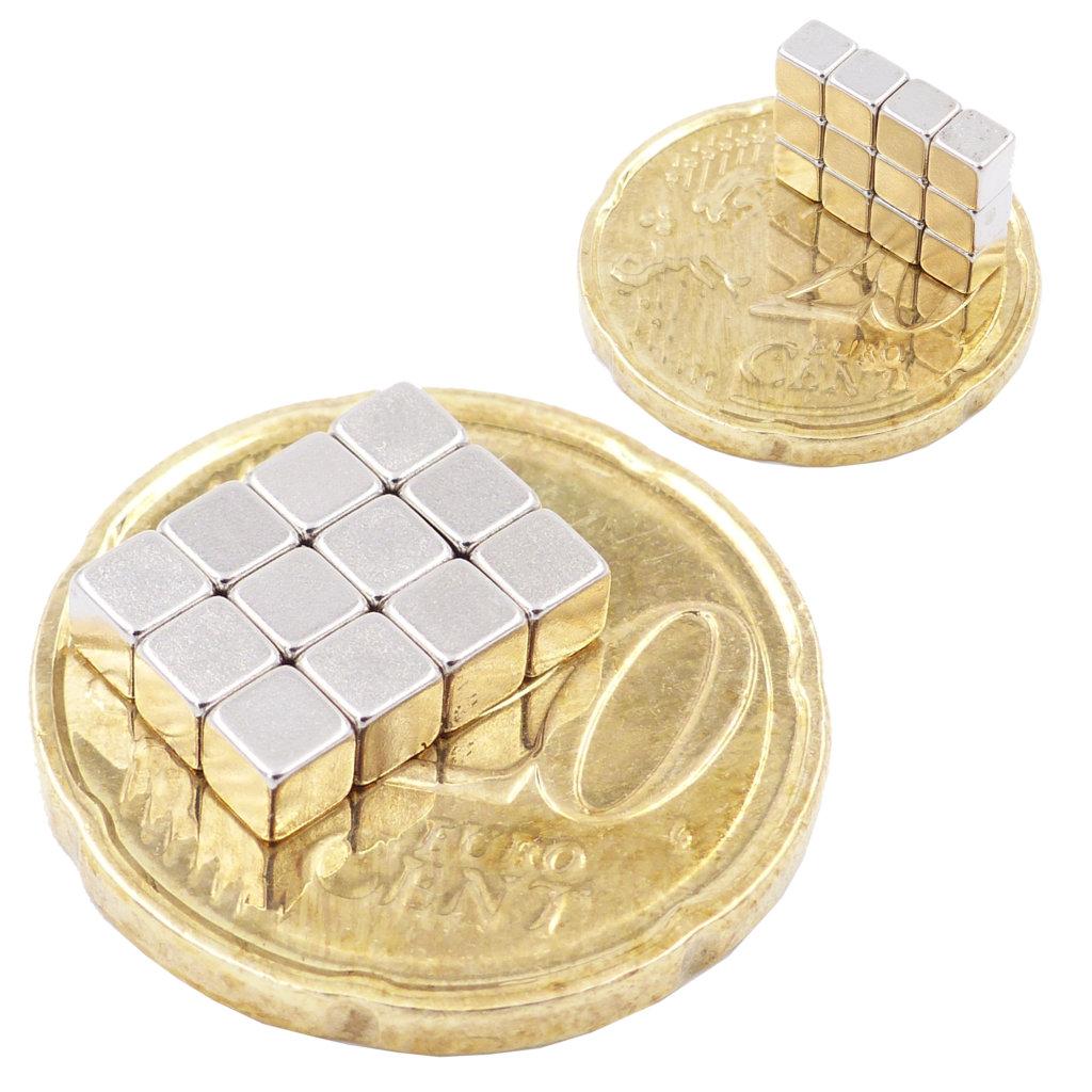3x3x3mm Würfel Neodymmagnet N52